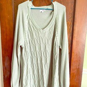 Pale mint green long sleeve sweater
